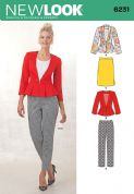 6231 New Look Pattern: Misses' Skirt, Trousers & Peplum Jackets